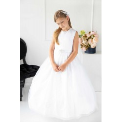 White First Holy Communion Dress Style 1813