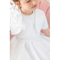 White First Holy Communion Dress&Bolero Style 1908