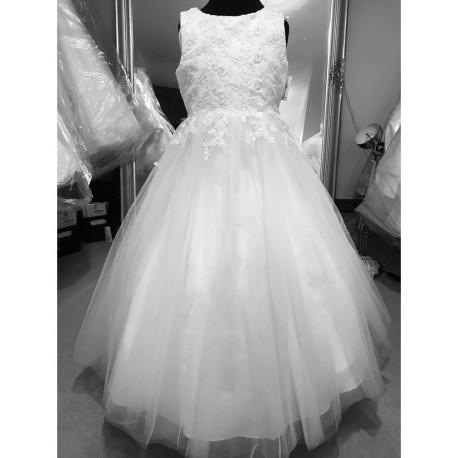 Little People White Communion Dress 70909
