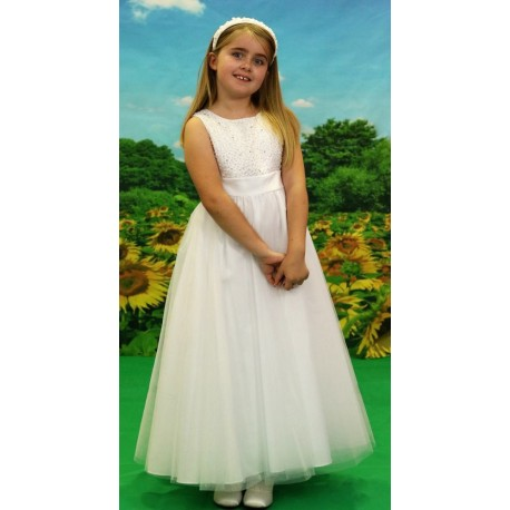 Little People White First Holy Communion Dress Style 70001