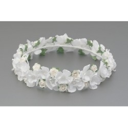 WHITE/GREEN FIRST HOLY COMMUNION HEADDRESS STYLE W-219