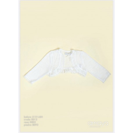 Ivory Handmade Baby Girl Cardigan Style 512145H