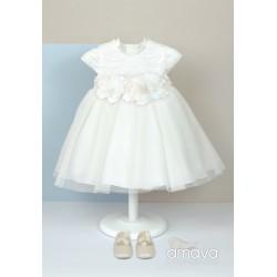 Handmade Ivory Christening/Baptism Baby Girl Dress Style 512025MC