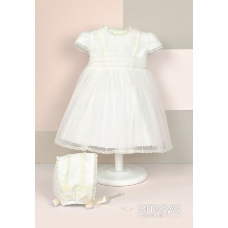 Handmade Ivory Christening Baby Girl Dress Style 512015MC