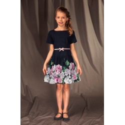 NAVY/PINK CONFIRMATION/SPECIAL OCCASION DRESS STYLE 21/J/19