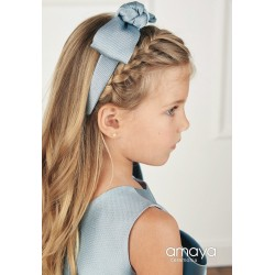 Handmade Greyish Blue Confirmation/Special Occasion Headband Style 514265D