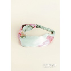 Green/Pink Floral Confirmation/Special Occasion Hairband Style 514223TU