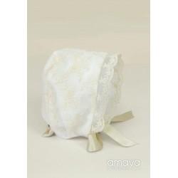 Ivory Baby Girl Christening/Baptism Bonnet Style 512013G