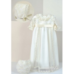 AMAYA Handmade Ivory Christening/Baptism Baby Girl Gown Style 512001MD