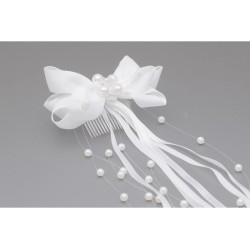 White First Holy Communion Headdress Style WS-043