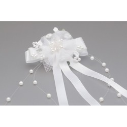 White/Green First Holy Communion Headdress Style WS-040