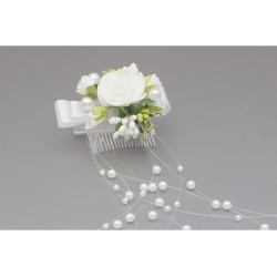 White/Green First Holy Communion Headdress Style WS-041