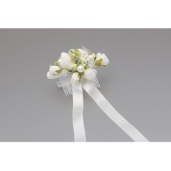 White/Green First Holy Communion Headdress Style WS-038