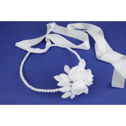 White First Holy Communion Bun Headpiece Style 6.4./940
