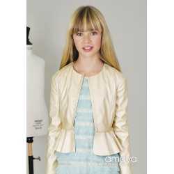 Ivory Leather Confirmation/Special Occasion Jacket Style 513079H
