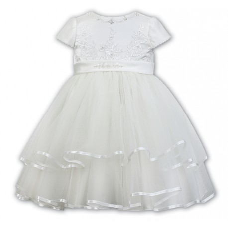 Sarah Louise Baby Girl Ivory Christening Dress Style 070074