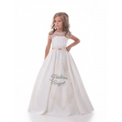 White First Holy Communion Dress Style 17-0186