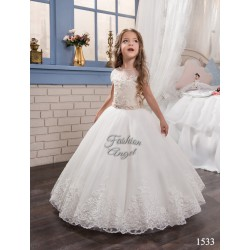 White First Holy Communion Dress Style 16-1533