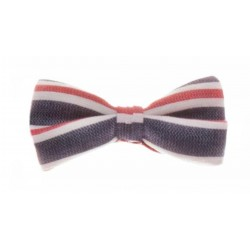 NAVY/WHITE/RED STRIPEY FIRST HOLY COMMUNION/SPECIAL OCCASION BOW TIE STYLE 10-08015C