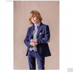 NAVY FIRST HOLY COMMUNION/SPECIAL OCCASION JACKET WITH PATCHES STYLE 10-03036