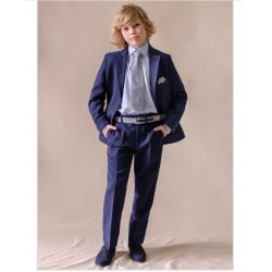 Navy Blue Two Piece First Holy Communion/ Confirmation Suit - 10-03036