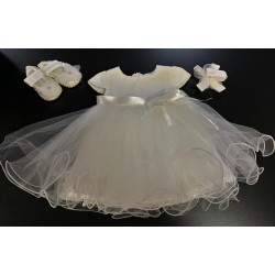 Baby Girl Christening 3 Pieces Ivory Set Style 465321
