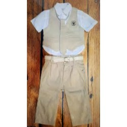 Elegant Boys Summer 5 psc Outfit style cx1052 beige