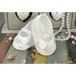 White Christening/Baptism Shoes Style M010