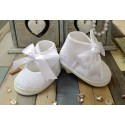 White Baby Girls Christening/Occasion Ballerina Shoes Style M013