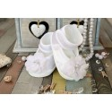 WHITE BABY GIRLS CHRISTENING/OCCASION BALLERINA SHOES STYLE M014