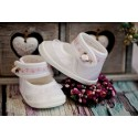 White/Pink Baby Girl Christening/Baptism Shoes Style M021