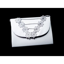 White First Holy Communion Handbag Style CB081