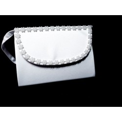 White First Holy Communion Handbag Style CB085