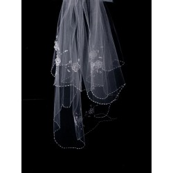 White First Holy Communion Veil Style CV150