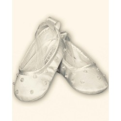 Sarah Louise Ivory Baby Girl Christening Shoes Style 004400