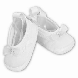 Gorgeous Christening White Baby Girl Shoes from Sarah Louise 004408