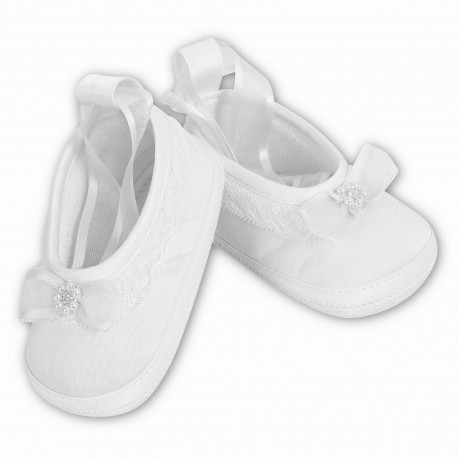 Gorgeous White Baby Girl Shoes from Sarah Louise 4408