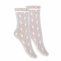 White Spanish First Holy Communion Socks Style 4.502/4