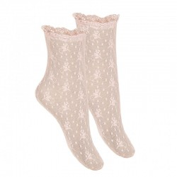 Pink Confirmation/Special Occasion Spanish Socks Style 4.502/4