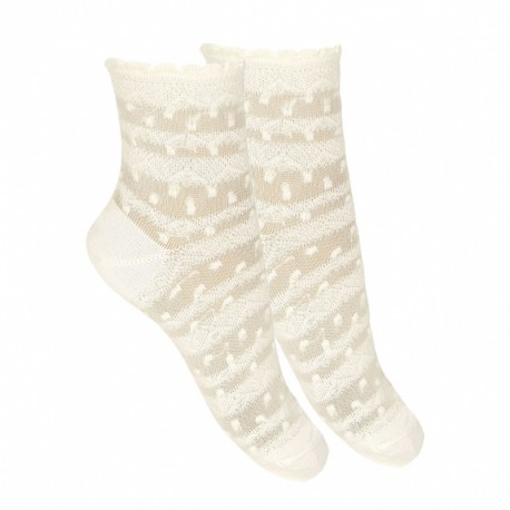 Ivory First Holy Communion Spanish Socks Style 2.790/4