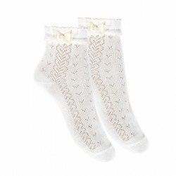IVORY FIRST HOLY COMMUNION SPANISH SOCKS STYLE 2.765/4