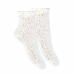 IVORY FIRST HOLY COMMUNION SPANISH SOCKS STYLE 2.709/4