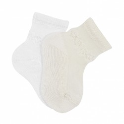 WHITE BABY GIRL/BOY CHRISTENING/BAPTISM SPANISH SOCKS STYLE 2.712/4