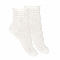 IVORY FIRST HOLY COMMUNION SPANISH SOCKS STYLE 2.746/4