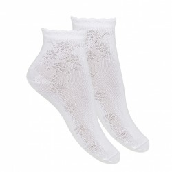 WHITE FIRST HOLY COMMUNION SPANISH SOCKS STYLE 2.703/4