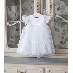 WHITE CHRISTENING/BAPTISM BABY GIRL DRESS STYLE CLARA BIS