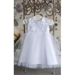 WHITE CHRISTENING/BAPTISM BABY GIRL DRESS STYLE MATILDA