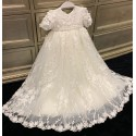 TETER WARM HANDMADE BABY GIRL IVORY CHRISTENING GOWN STYLE B115