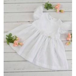 Handmade White Christening Baby Girl Dress Style HARPER