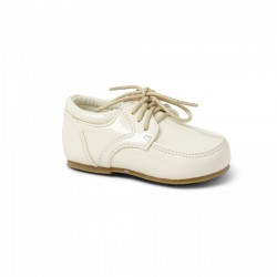IVORY LEATHER BABY BOY CHRISTENING SHOES BY SEVVA STYLE 2507
